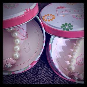 Stella and Dot Kristen Pearl Bracelets x2